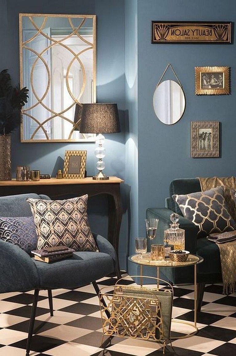 . #Eclecticlivingroom #modernEclecticlivingroom | Art deco ...
