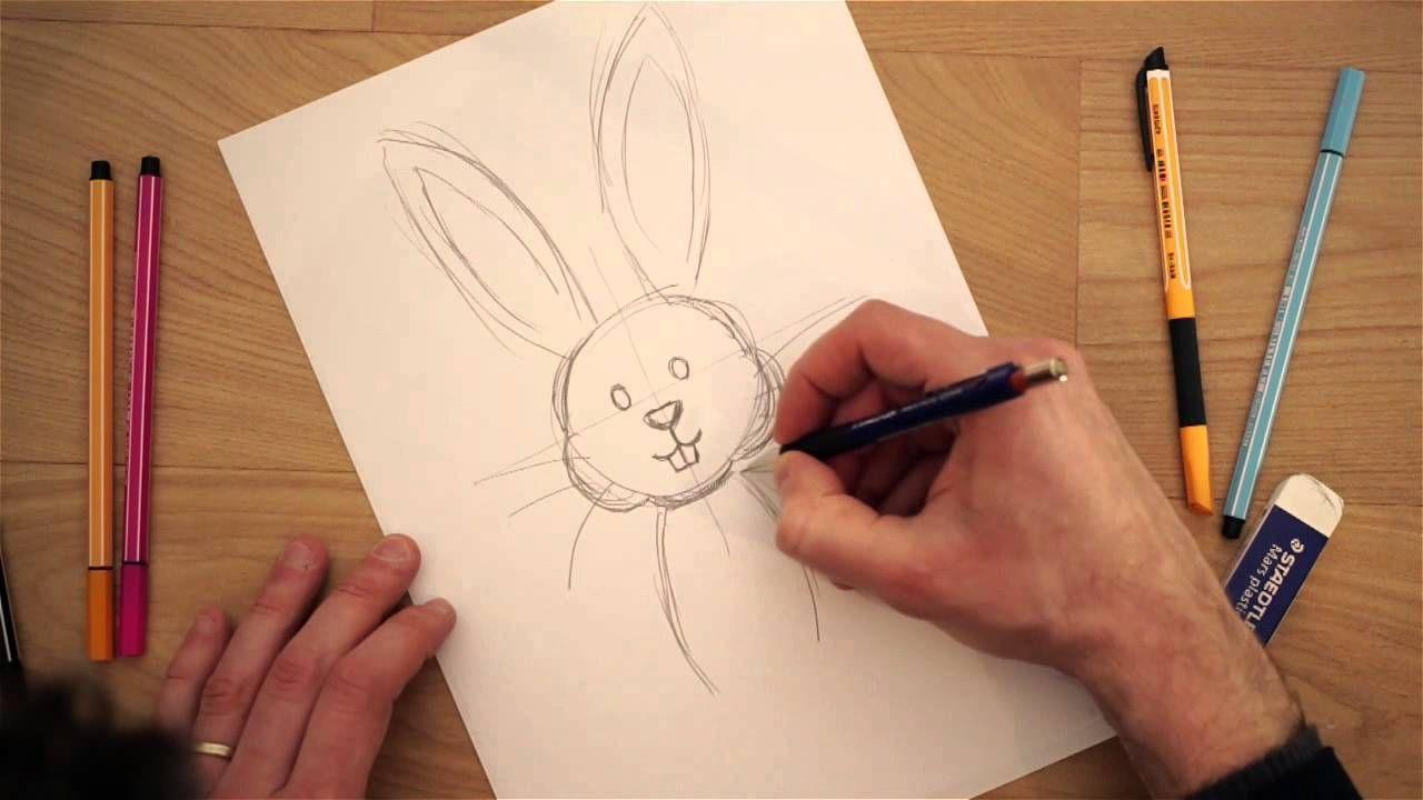 Come Colorare Un Disegno.Come Disegnare Un Coniglietto Di Pasqua Disegni Disegno Di Mandala Disegno Cuore