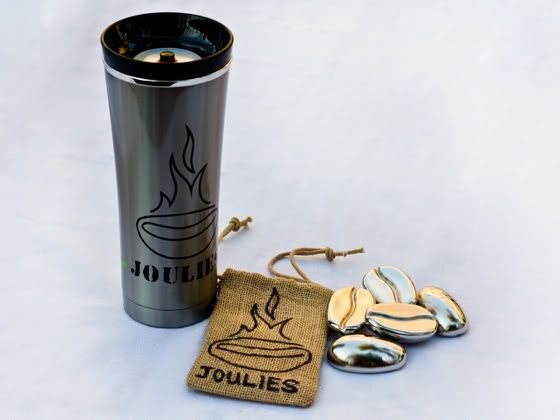 Cool your coffee faster and keep enjoying it longer with Joulies, stainless steel beans filled with a magic heat-absorbing material.