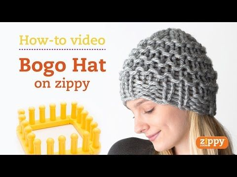 Zippy Loom - How to knit a hat, complete pattern - YouTube
