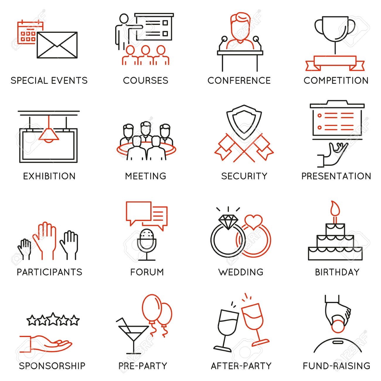 Image result for event planning icon | Moños, Vocabulario ...