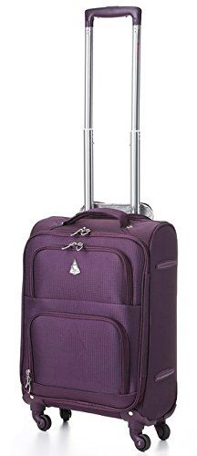 9e65136be3 Aerolite Lightweight Upright Travel Trolley Bags Carry On Luggage Suitcase  4 Wheel Spinner 22x14x9