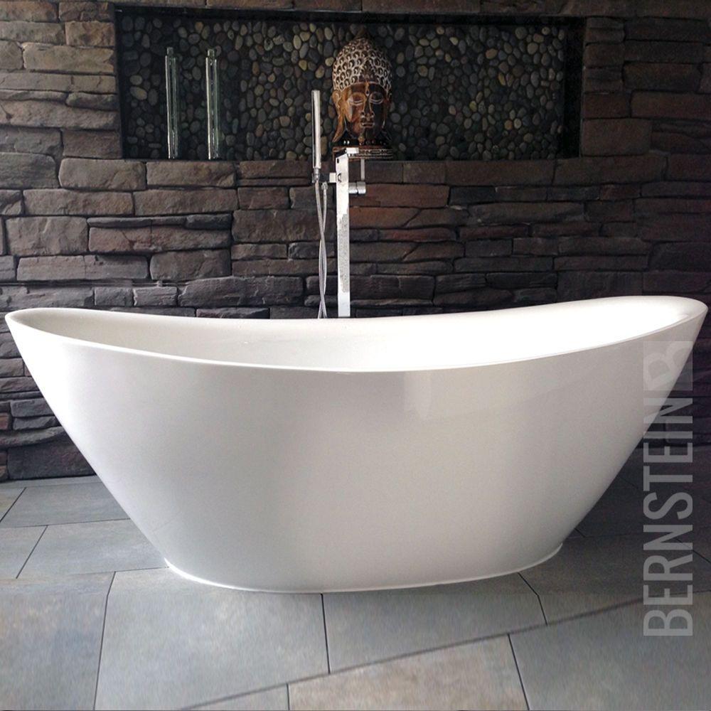 Details zu BERNSTEIN Design Badewanne Freistehende Wanne BELLAGIO ... | {Badewannen armaturen freistehend 84}