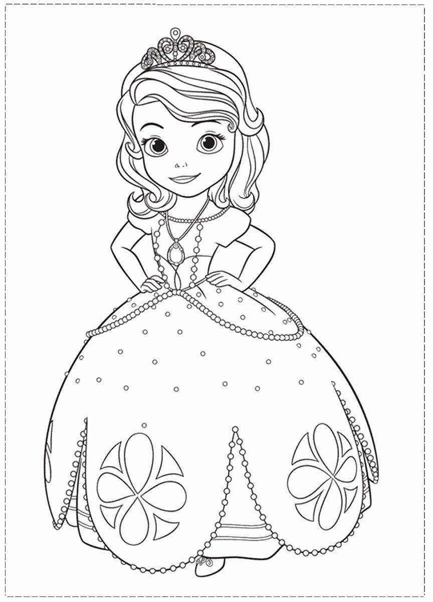 Click Here To Print Sofia The First Coloring Page In Her Night Gown Outfit With H Princess Coloring Pages Disney Princess Coloring Pages Mermaid Coloring Pages