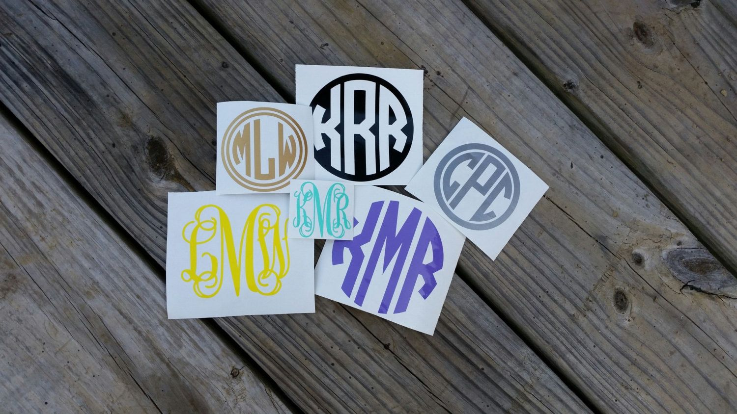 Personalized Monogram Decal, Monogram Sticker, Custom Decal, Car Decal Monogram, Car Initials Vinyl Initials Vinyl Lettering (Various Sizes) by CuttinUp2 on Etsy https://www.etsy.com/listing/210719068/personalized-monogram-decal-monogram