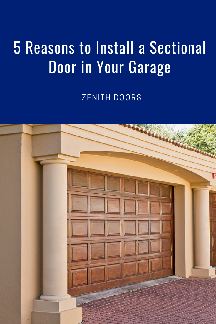 Sectional Garage Doors Offer Security Safety And Energy