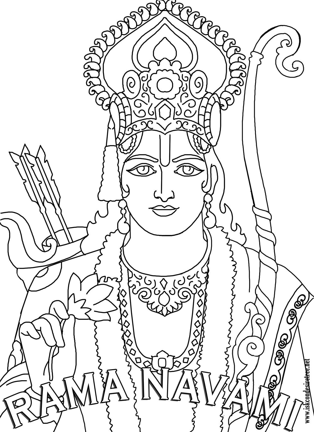 Image Detail for - Kids Colouring Rama Navami 26 - ISKCON Desire