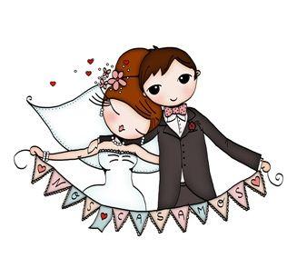 novios boda dibujo divertidos  Buscar con Google  Bodas  Pinterest