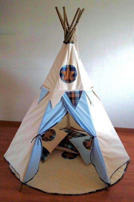 Teepee Wappi Noah azul/escocés