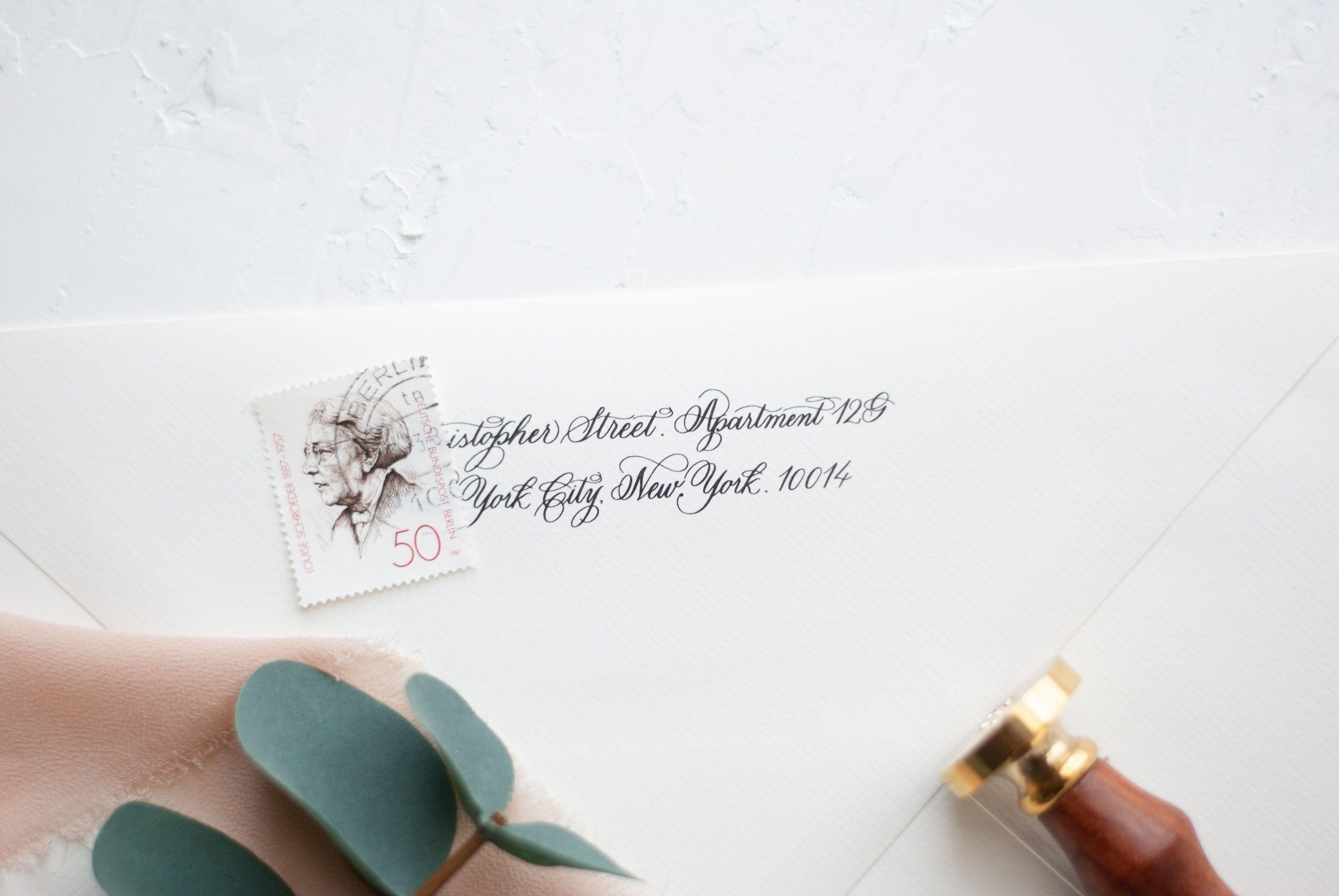 Printable Custom Return Address On Handmade Calligraphy Etsy Addressing Wedding Invitations Wedding Envelope Calligraphy Wedding Invitation Envelopes