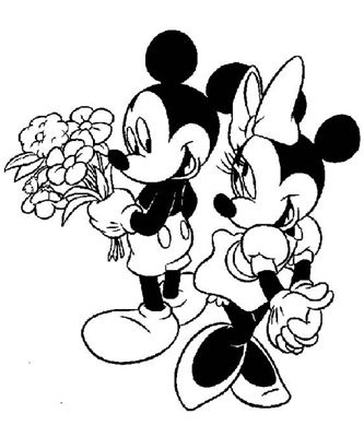 Mickey Mouse Coloring Pages  Minnie Mouse und Micky Mouse