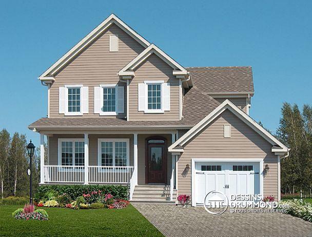 Plan de maison no W3452 de dessinsdrummond modele de maison