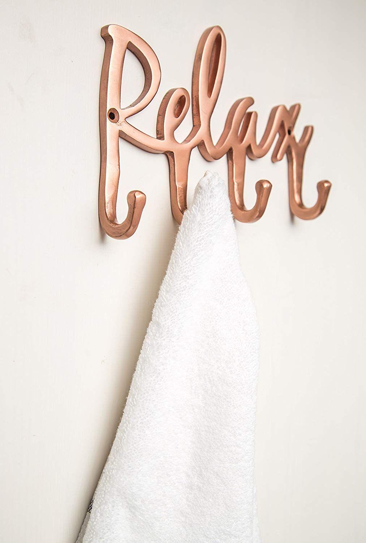 . Relax Copper Towel Rack   Wall Mounted Bathroom Towel Hooks   Towel
