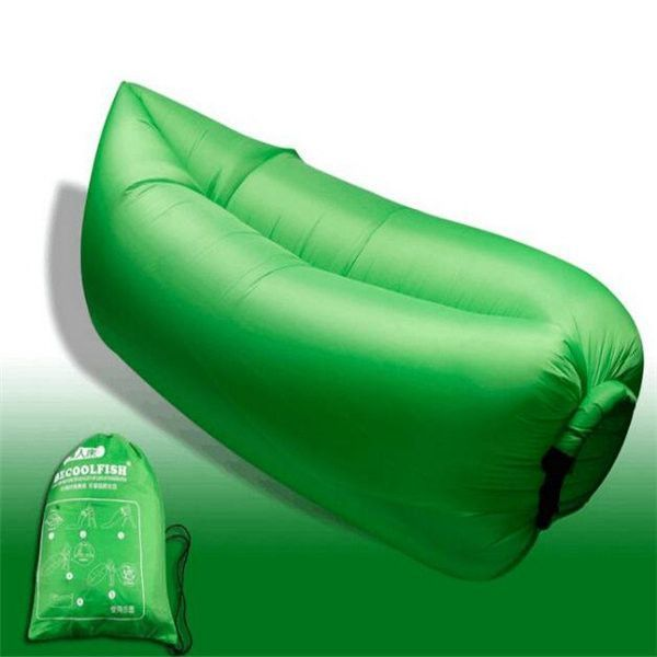 Fast Inflatable Sleeping Daybed Air Camping Sofa Portable Beach Nylon Lazy Chair