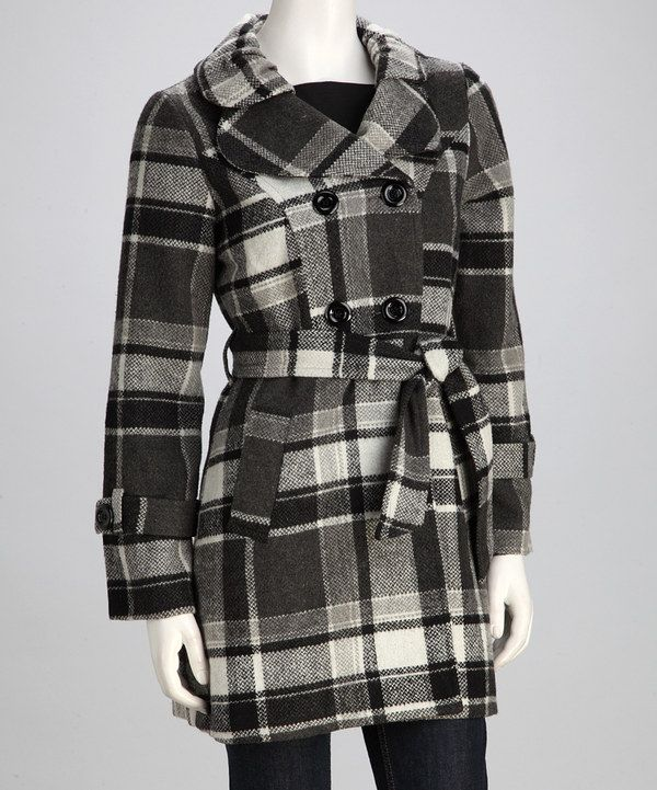 Take a look at this Gray Plaid Jacket on zulily today!