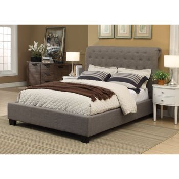 Costco Rafferty Queen Upholstered Bed Bedroom Pinterest Nice Grey And Cushions