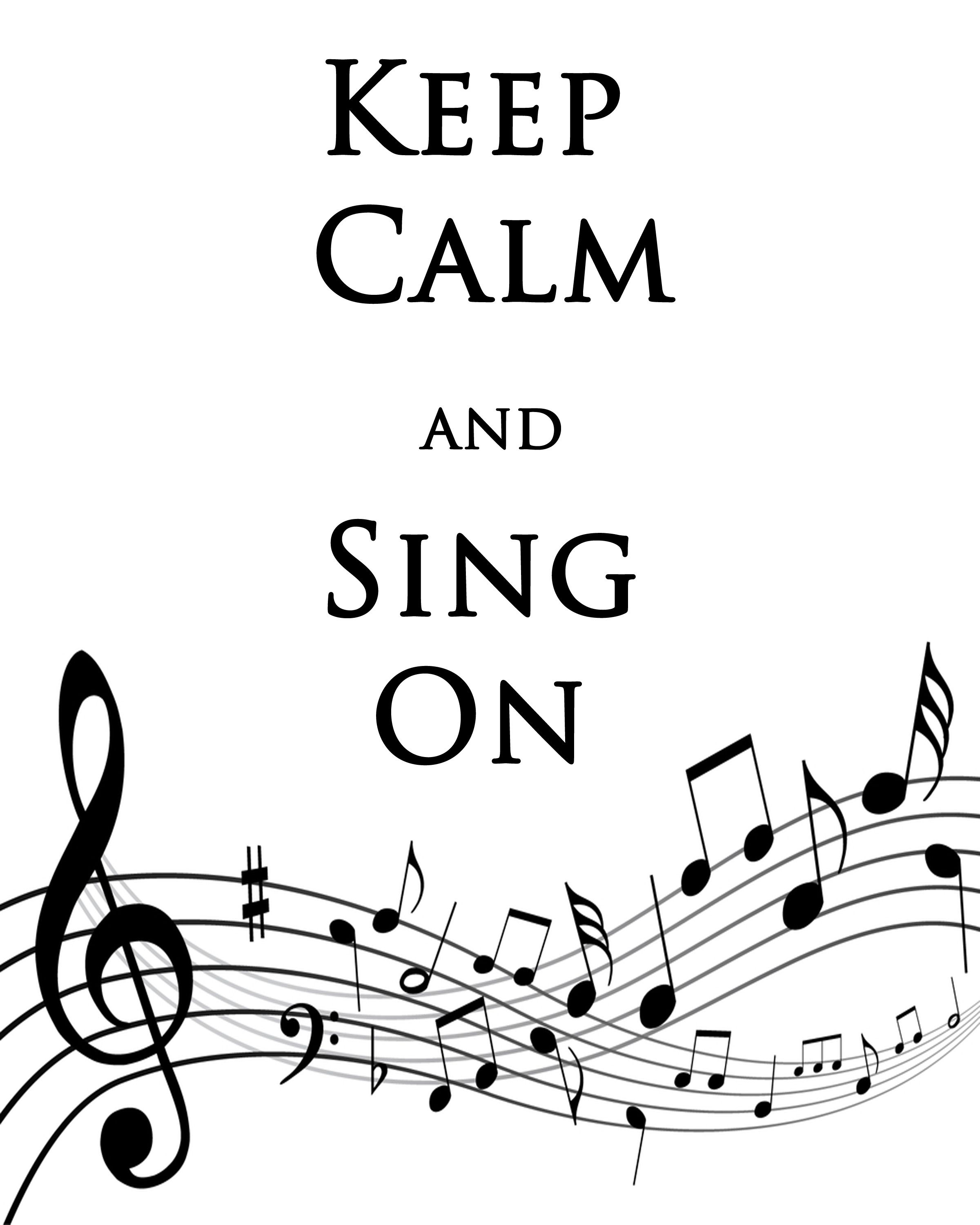 Debbie does creations keep calm and sing on free