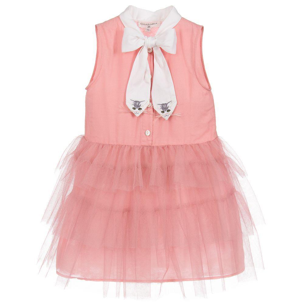 Charabia Girls Pink Tulle Dress at Childrensalon.com | ss18 dresses ...