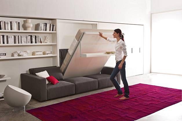 Asiantuntijat kertovat: Näin valitset seinäsängyn. Seinäsänkyyn voi kiinnittää myös sohvan, kirjoituspöydän tai kaapiston - Asuminen - Ilta-Sanomat