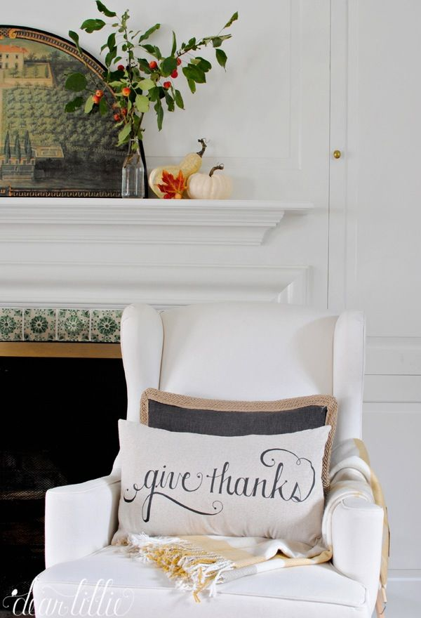 Image of Give Thanks 12x20 Pillow Cover in Black