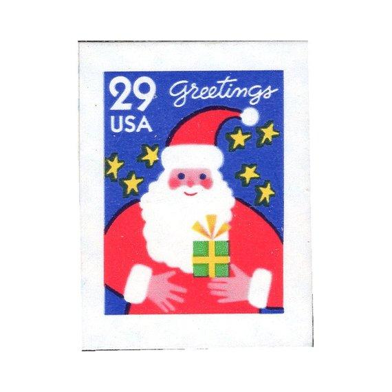 Us Postage Christmas 2021 Stamps Ten 29c Santa Claus Stamp Vintage Unused Us Postage Stamps Etsy In 2021 Postage Stamps Usa Vintage Postage Stamps Vintage Postage