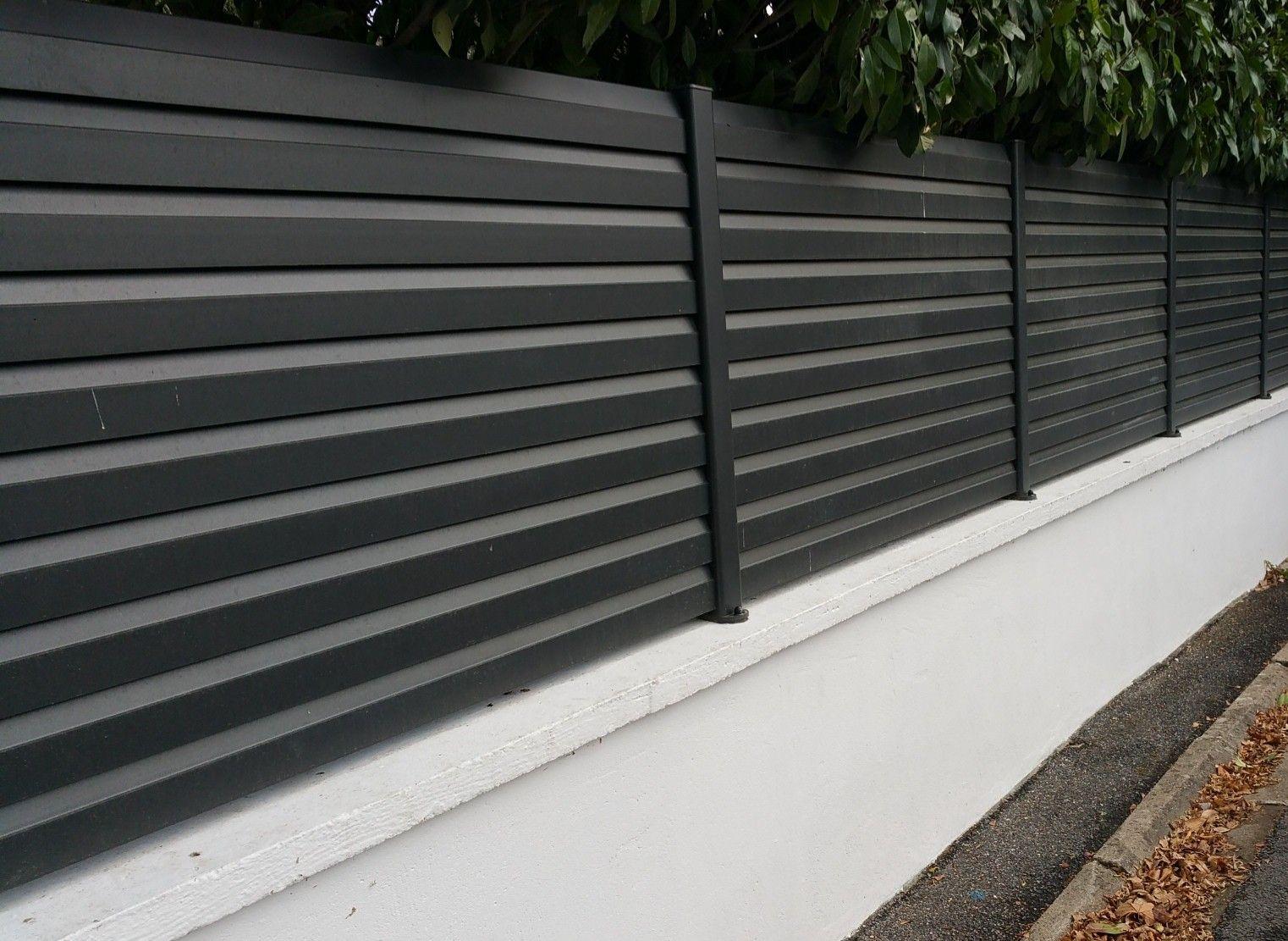 cloture aluminium lames persiennes