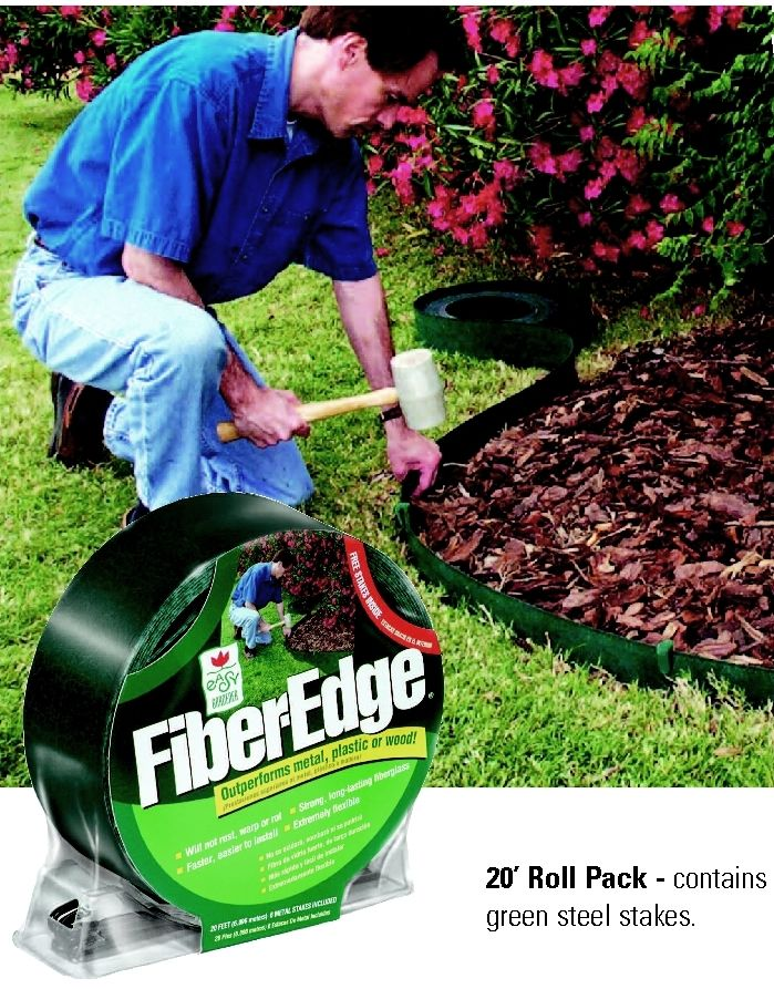 Easy gardener 20 foot fiber edge fiberglass landscape for Easy gardener lawn edging
