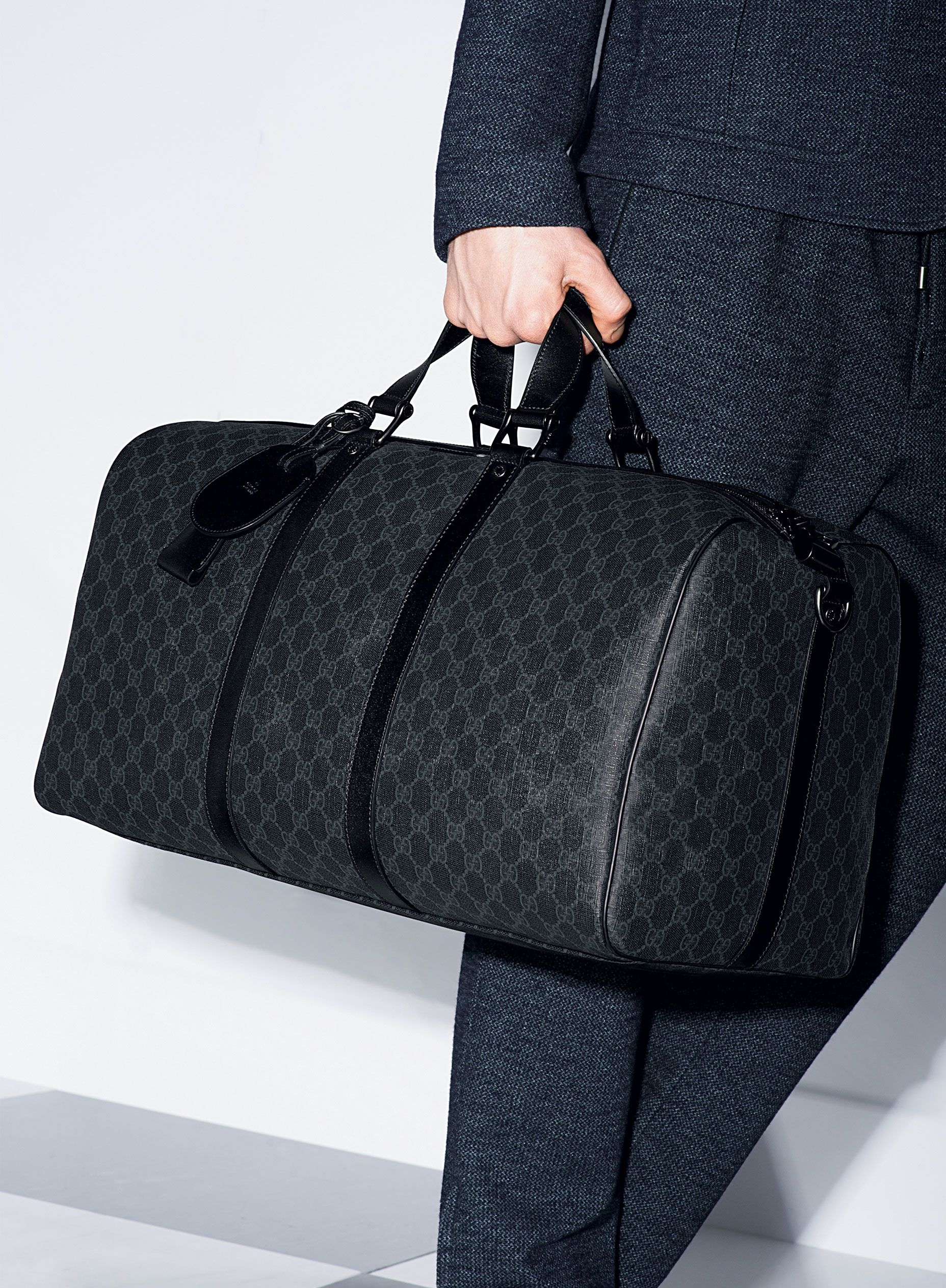 80fe9e7a59d17f Gucci Pre-Fall 2014: GG Supreme Canvas Carry-On Duffel Bag #duffel #bag  #menstyle #menswear