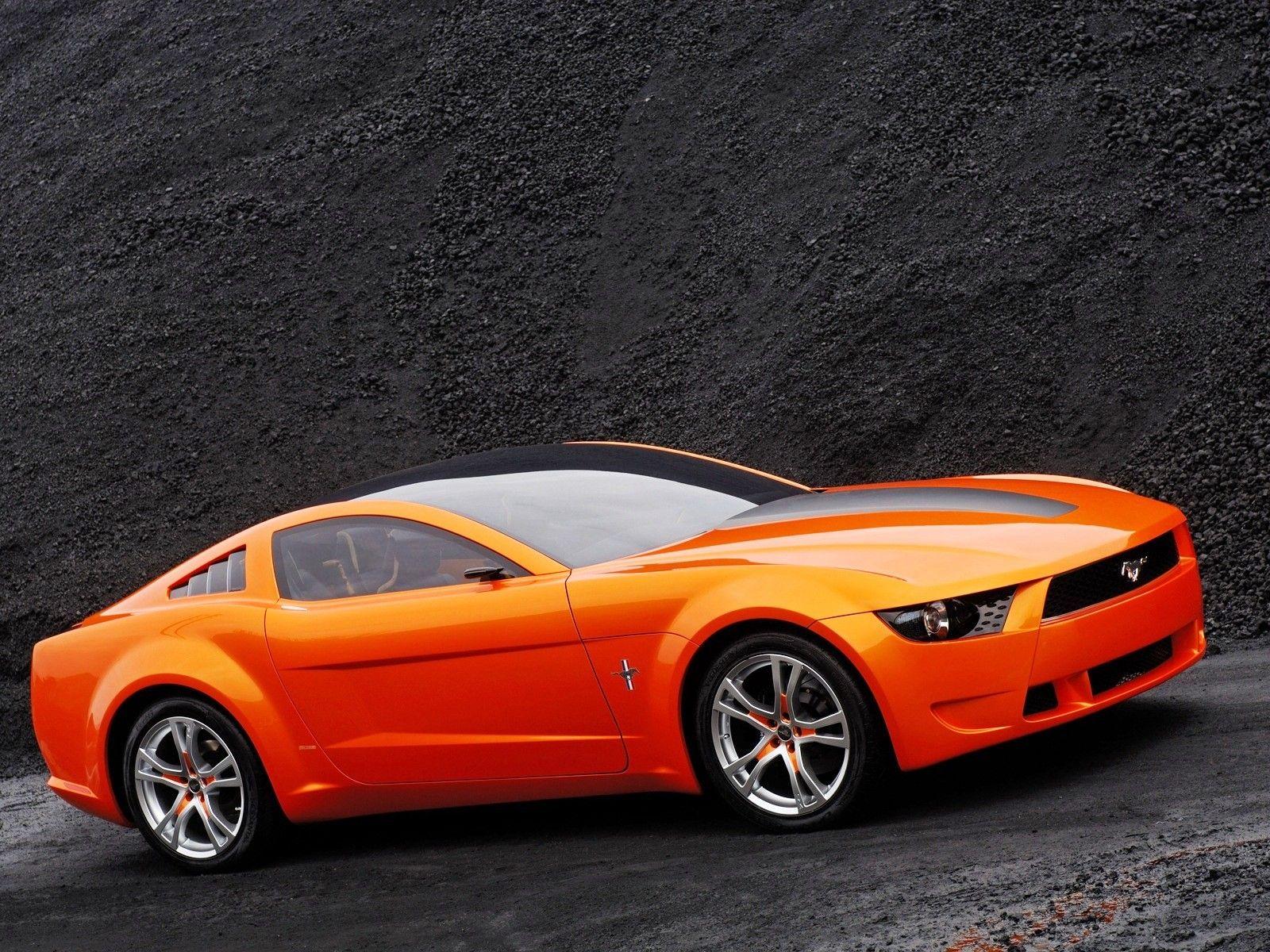 Orange Ford Mustang Gt New Hd Wallpaper Ford Hd Wallpaper