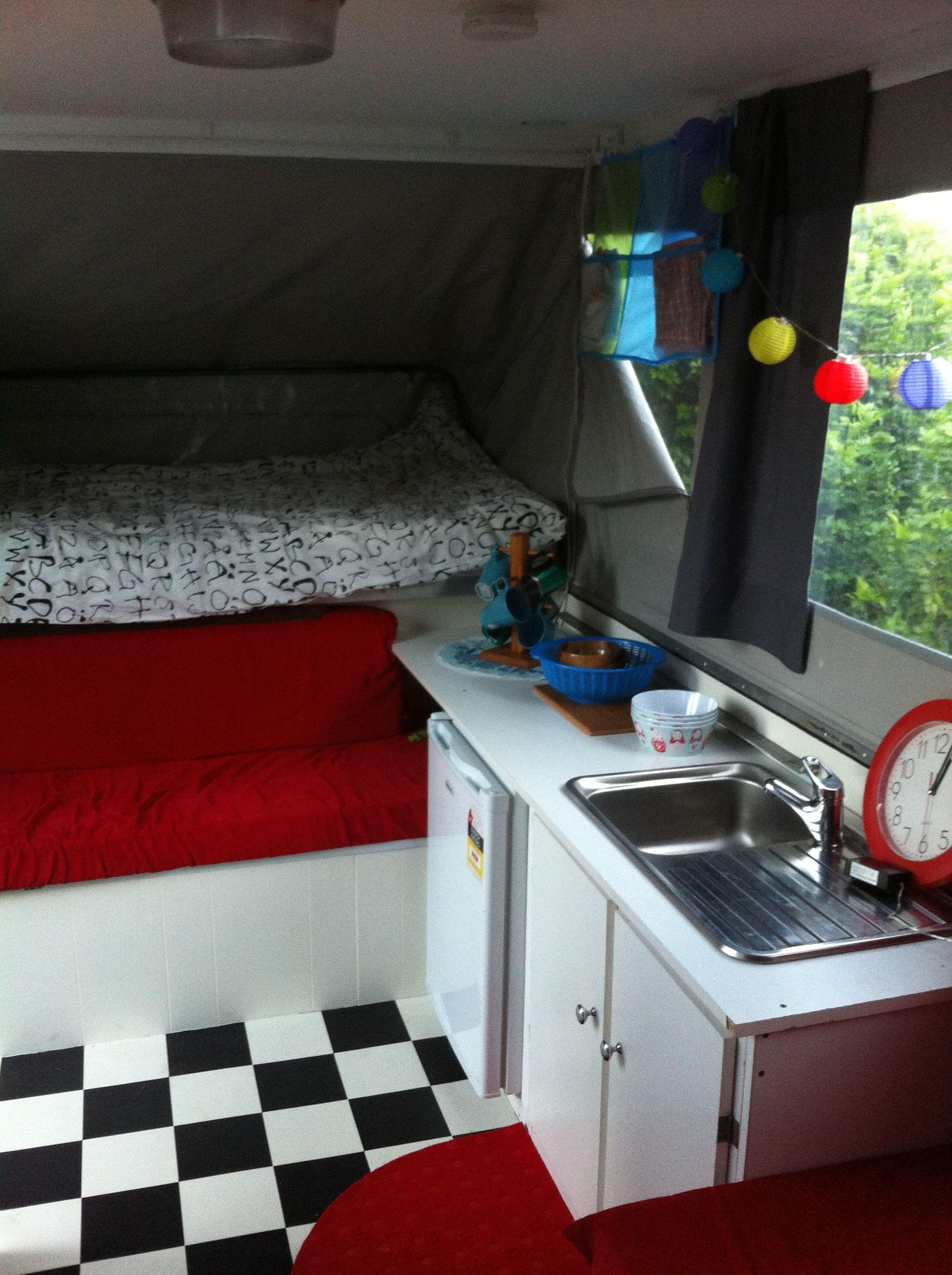 Pop Up Camper Renovation Makeover Ideas Retro Vintage 1975