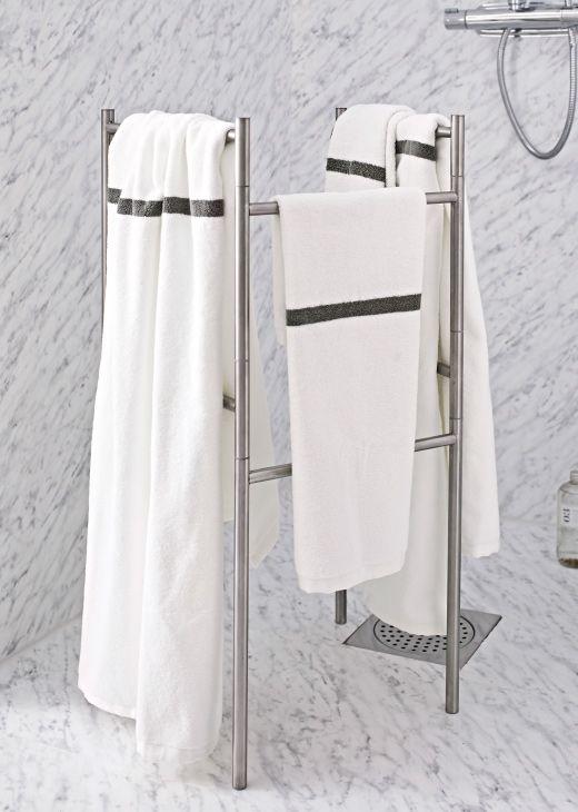 Ikea enudden towel stand holding ikea f rglav towels for Ikea towel stand