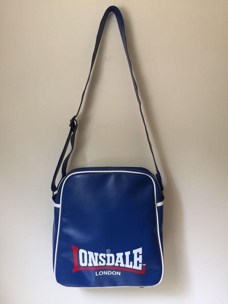 Vintage Lonsdale London Vinyl Cross Body Shoulder Bag With Adjule Strap