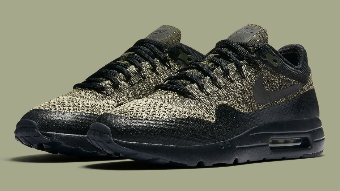 buy online c82b9 01c49 Nike Air Max 1 Ultra Flyknit Neutral Olive/Black-Sequoia ...
