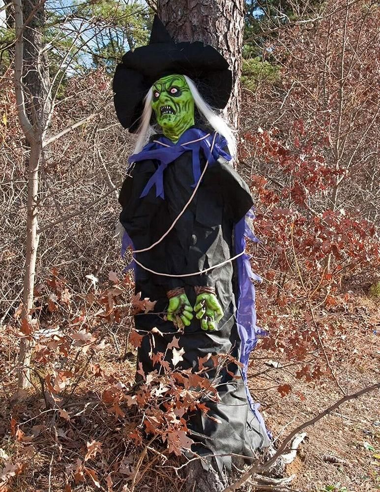 6Ft #Tree #Hugger #Green #Witch #Prop #Decoration With #Hat