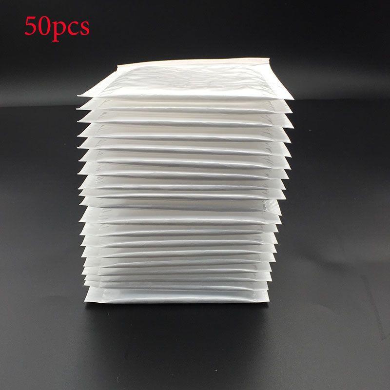 50 개/(11*11 센치메터 + 4 센치메터) 화이트 거품 봉투 거품 필름 가방 진주 필름 봉투 충격 가방