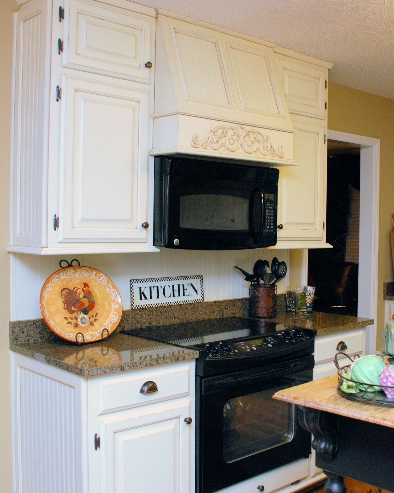 Southern Inspirations My Fake Kitchen Microwave Hood Kitchen Appliances Design Microwave In Kitchen Tuscan Kitchen