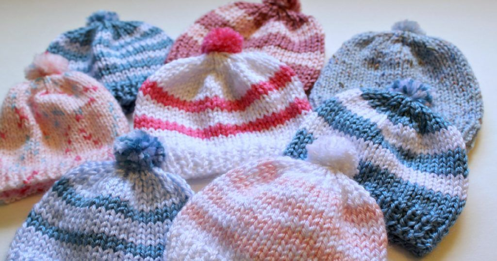 Knitting Newborn Hats for Hospitals | Hat knitting ...