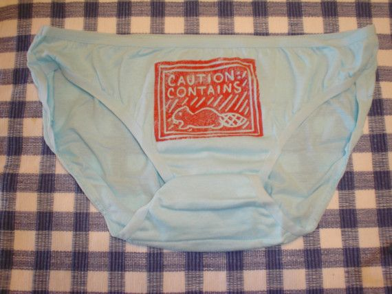 Caution  Contains Beaver Panties  Underwear by DaisyDreams on Etsy
