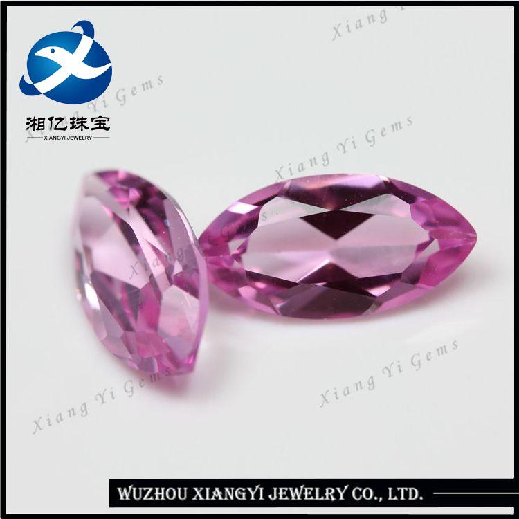 Wuzhou Synthetic Diamond Corundum Jewelry Prices Per Carat! Fashion First Class 2# 3*6MM Machine Cut Loose Marquise Diamonds