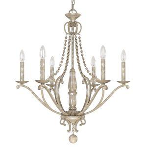 Capital Lighting C4446SQ000 Adele Mid Sized Chandelier Chandelier - Silver Quartz