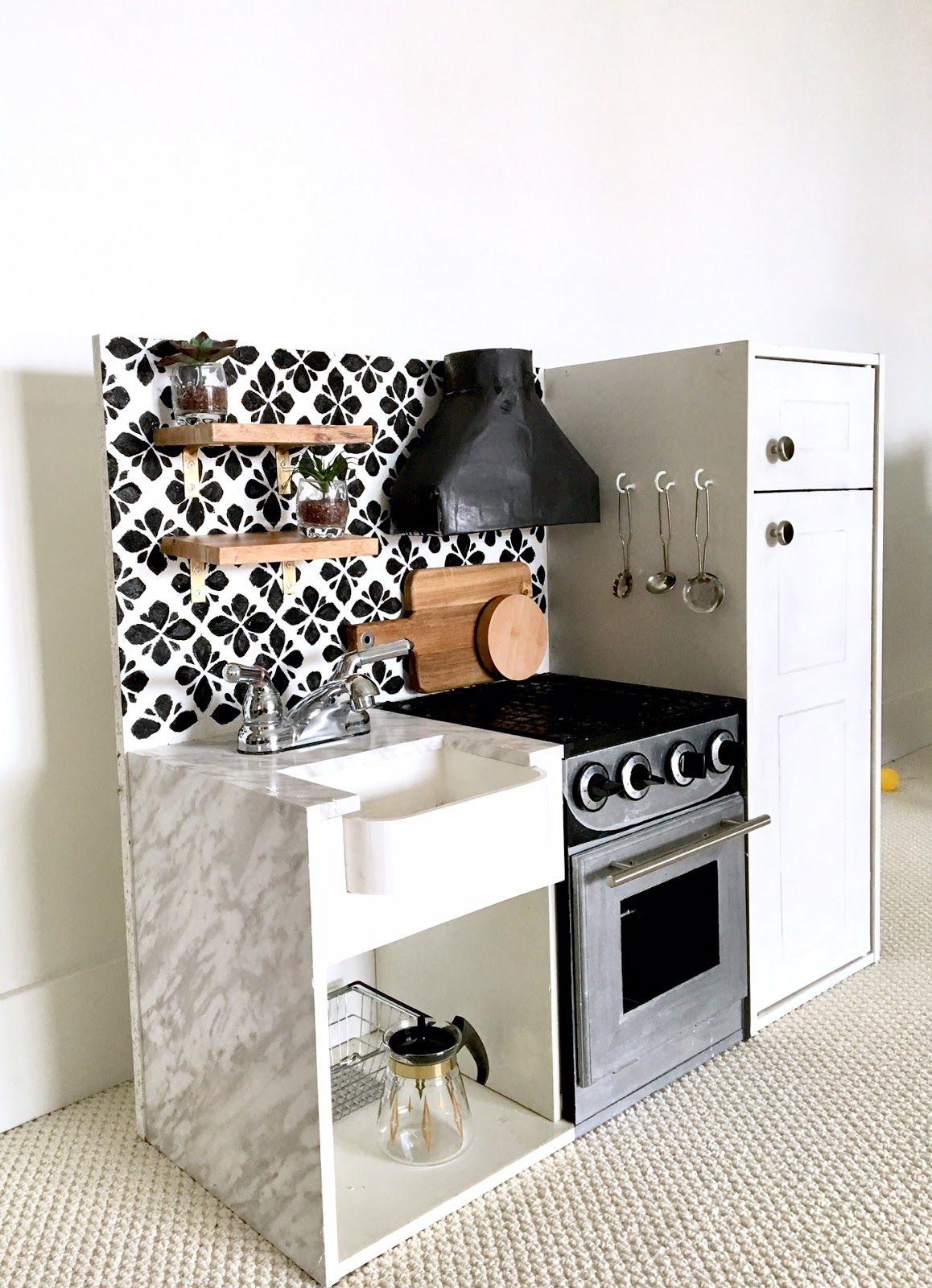 DIY Play Kitchen An Update in 2020 Diy kids kitchen