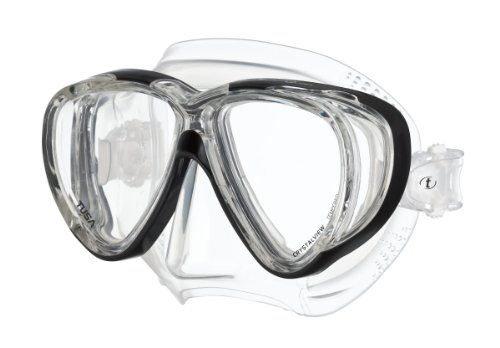 Tusa Freedom Quad Mask - Clear/Black - http://www.campingandsleepingbags.com/tusa-freedom-quad-mask-clearblack/