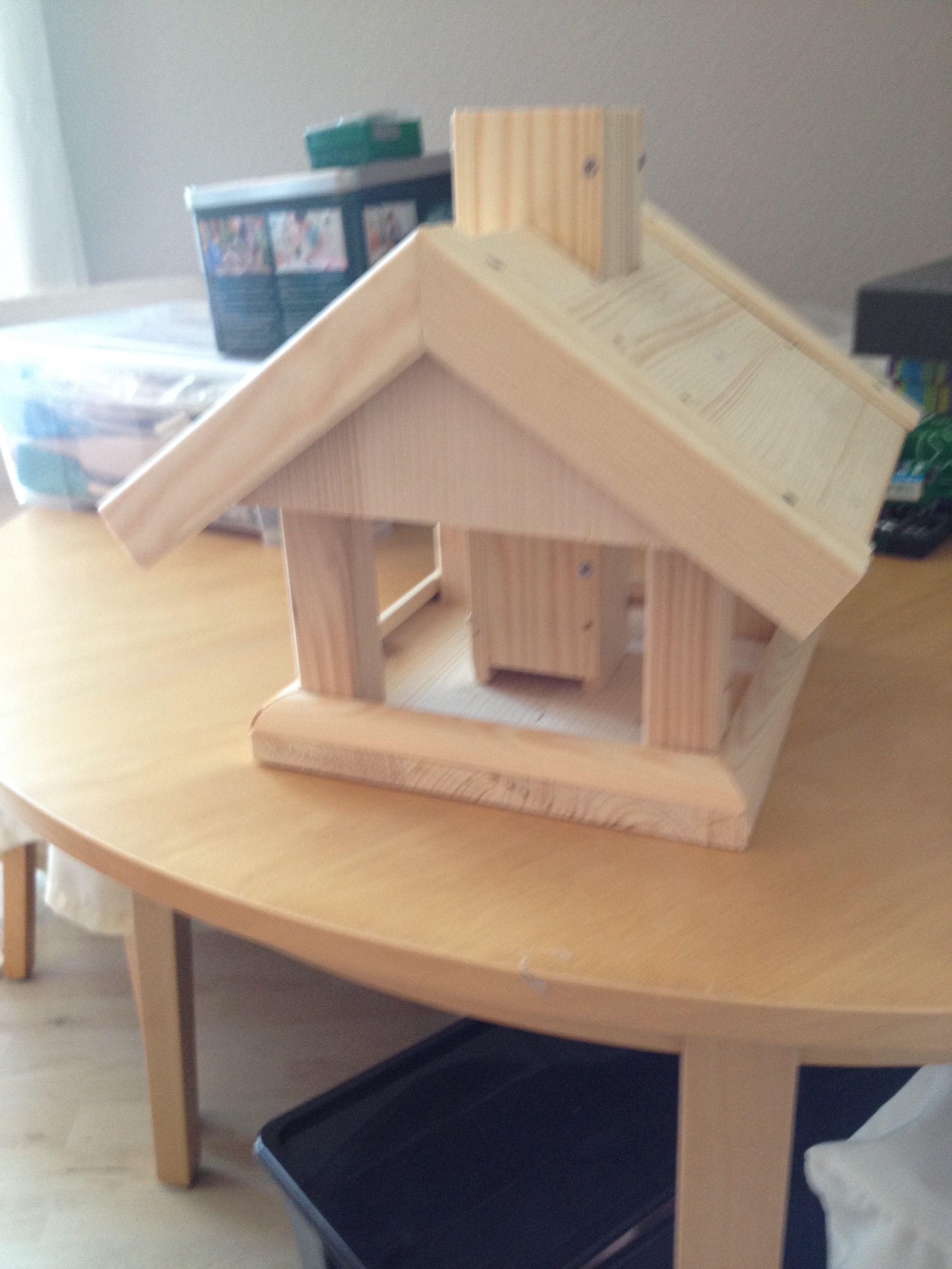 Vogelhaus Vogelfutterhaus selber bauen, Vogelhaus selber