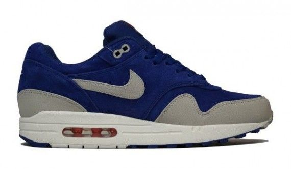 6dd793ef0d0d11 Nike Air Max 1 Premium - Deep Royal Blue Granite-Sail-Team Orange