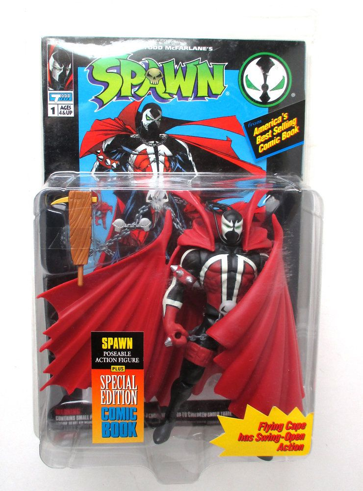 Mcfarlane Toys Spawn Action Figure 1994 Red Cape /& Comic Book