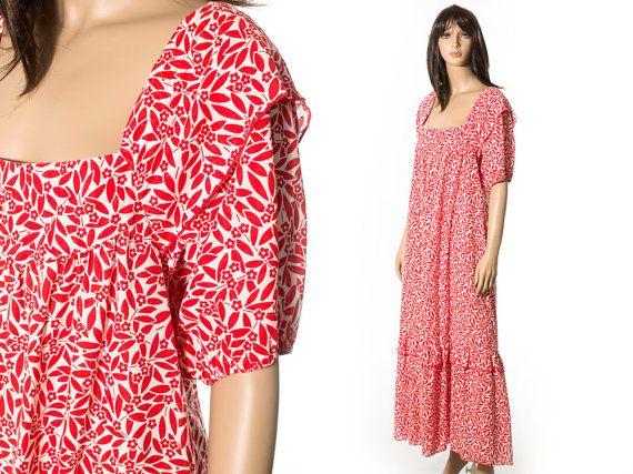 Vintage floral Hawaiian muumuu dress plus size XX-large | Project ...