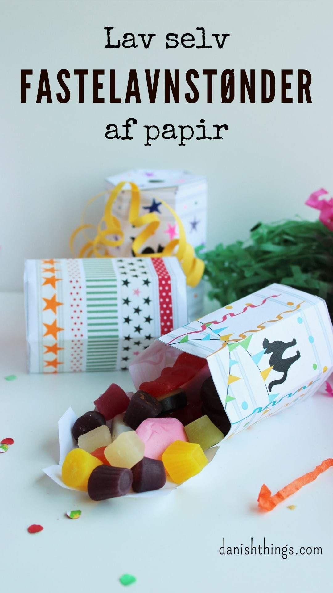 Lav selv fastelavnstønden af papir - som dekoration eller fastelavnsgave - Danish Things #fastelavnpynt