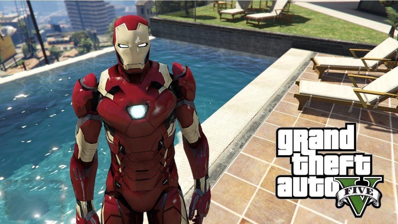 GTA 5 Mods - IRON MAN 4K MAP TOUR GTA 5 Gameplay | 2160p UHD