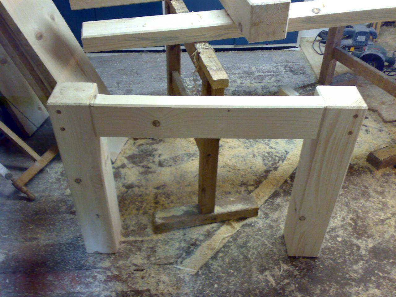 Terassentisch Aus Massiver Fichte Terassentisch Holztisch Selber Bauen Haus Deko