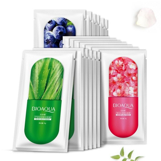 Photo of BIOAOUA 1pc Face Mask Jelly 3 Types Deepth Moisturizing Face Serum Sleep Jelly Facial Mask Whitening Nutritious Skin Oil Control Review